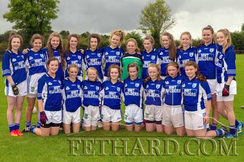 On Sunday, September 28, the Fethard Under 14 team competed in the Tipperary A League Final against Thurles Sarsfield in Littleton. The Fethard girls were superb and took some outstanding scores, but unfortunately were narrowly beaten on the day. Back row (left to right) Lauren Dowling, Sophie Ryan, Aoibhe Browne, Muireann O'Connell, Katie O'Flynn, Sally Butler, Rachel Prout, Lucy Spillane, Aine O'Connell, Laura Kiely, Laura Stocksborough, and Amy Brophy. Front row: Katie Ryan, Alison Connolly, Carrie Davey, Ciara Connolly, Laura O'Donnell, Maeve Ellie Ryan, Maggie Fitzgerald, and Caoimhe O'Meara. (Photo supplied by Kieran Butler)