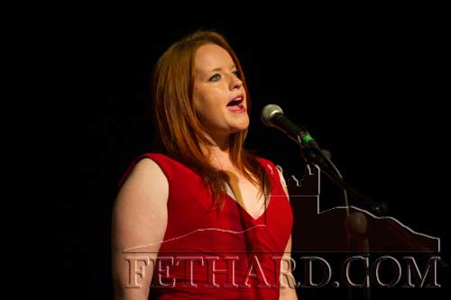 Holly Jean Williamson singing at the Rebecca Storm concert in the Abymill Theatre, Fethard, Co. Tipperary