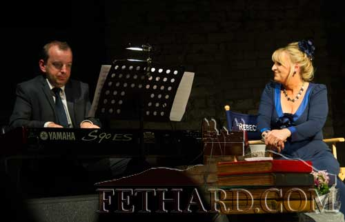 Rebecca Storm accompanied by Vincent Lynch on keyboards in the Abymill Theatre, Fethard
