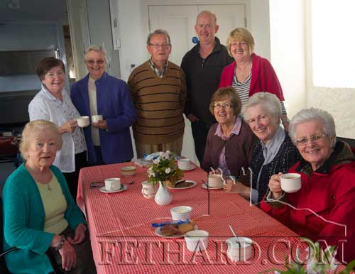 Photographed at Fethard Bridge Club's Coffee Morning in the Town Hall, in aid of South Tipperary Hospice are L to R: Noreen Evans, Carol Kenny, Sr. Marie, Jimmy Connolly, Kevin O'Dwyer, Gemma Kenny, Margaret Doocey, Kay St. John and Pauline Morrissey.