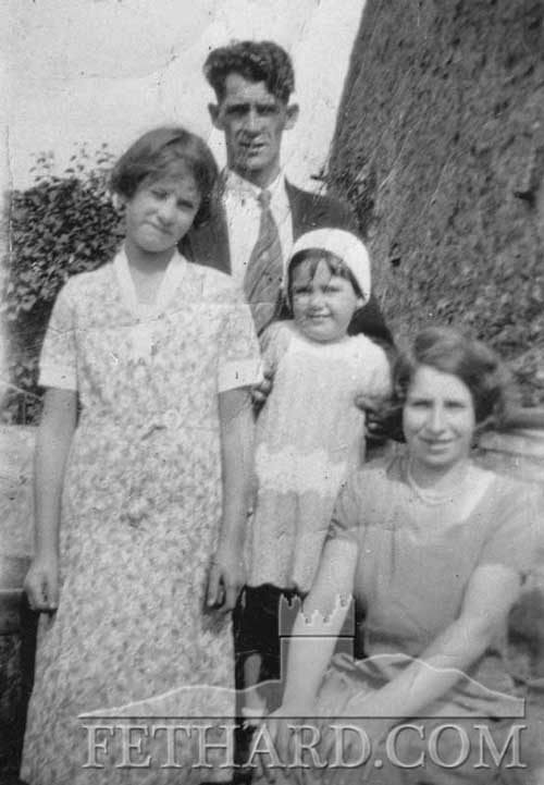 Maggie, Harry and Catherine Sayers and Annie (Sayers) Dalton, Maggie's sister.