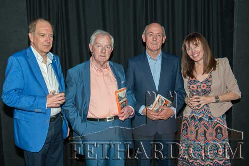 Photographed at the launch of John Fogarty's book 'Scenes from and Indian Summer' in the Abymill Theatre, Fethard. L to R: Tony O'Dwyer (Wordsonthestreet Publishers Galway), Michael Coady who launched the book, John Fogarty (author) and Geraldine Burke (Wordsonthestreet Publishers Galway).