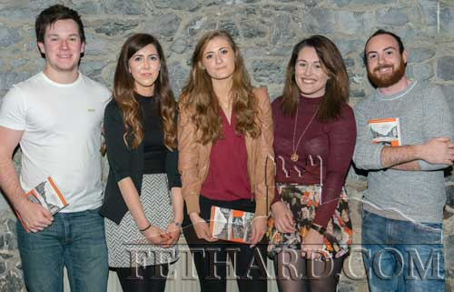 Photographed at the book launch L to R: Simon Standbridge, Maryanne Fogarty, Jane Fitzgerald, Beth Whittle and Sean Cleary.