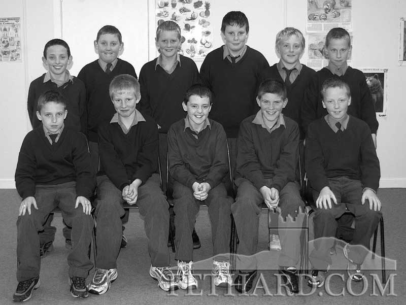 Sixth class pupils from St.. Patrick's Boys School 2003. Back L to R: Owen Prout, Kevin Hayes, Jerome Ahearn, Sam Manton, Ben Walsh, Glen Maher. Front L to R: Jake Maher, Andy Walsh, Adam O'Donnell, Darren Connolly and Adam Lyons. Also in the class are John Lalor and Philip Doyle.
