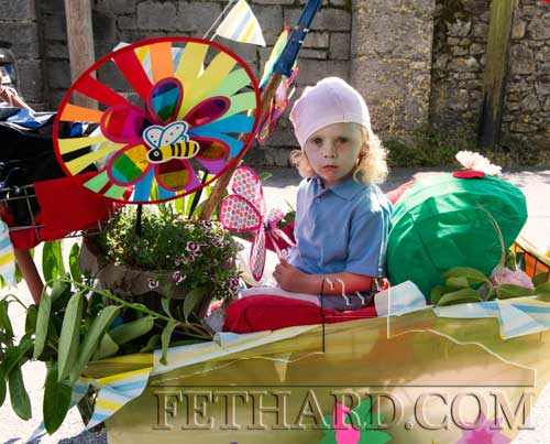 Tiarán MacNamara, one of the 'Smurfs visit to Fethard' entry at Fethard Fancy Dress Parade