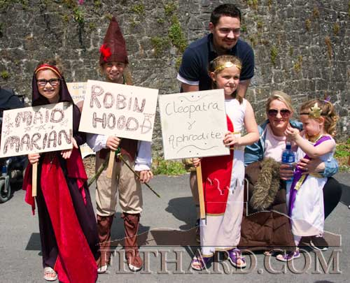 Maid Marian, Robin Hood and Cleopatra at the Fethard Fancy Dress Parade