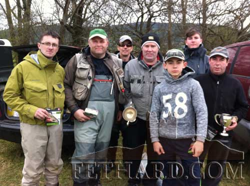 Fethard anglers at their annual competition on the Anner. L to R: Shane McDermott, Albert Adcock, Seán Maher, Johnny Brannigan, Robert Hackett, Conor Cagney and Colm Hackett.
