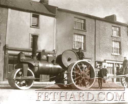 Anyone remember the old steam-roller . . . this one taken over 100 years ago on Fethard's Main Street?
