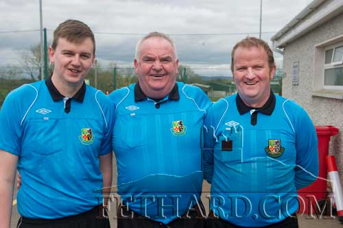 Officials at the Peter O'Reilly Cup final between Mullinahone and  Killusty played at Newhill Park L to R: Michael Teehan, Ger Ward and Paddy Ivors.